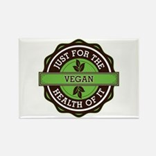 Vegan For the Health of It Rectangle Magnet (100 p