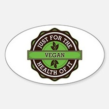 Vegan For the Health of It Decal