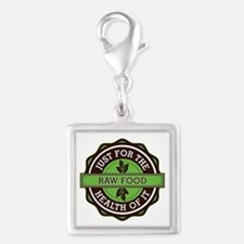 Raw Food For the Health of It Silver Square Charm
