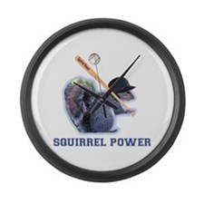 Squirrel Power Large Wall Clock