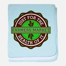 Farmers Market For the Health of It baby blanket