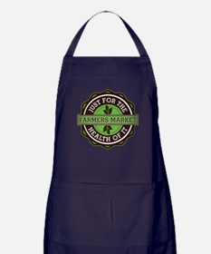 Farmers Market For the Health of It Apron (dark)