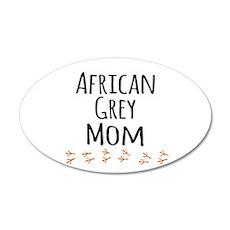 African Grey Mom Wall Decal