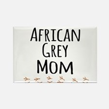 African Grey Mom Magnets