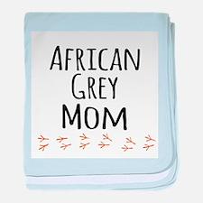 African Grey Mom baby blanket