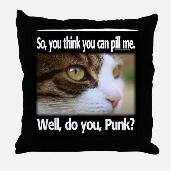 Pill Me, Punk Throw Pillow