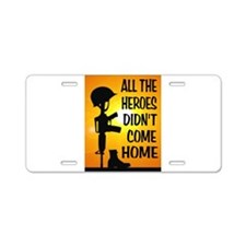 HEROES TRIBUTE Aluminum License Plate