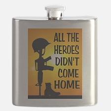 HEROES TRIBUTE Flask