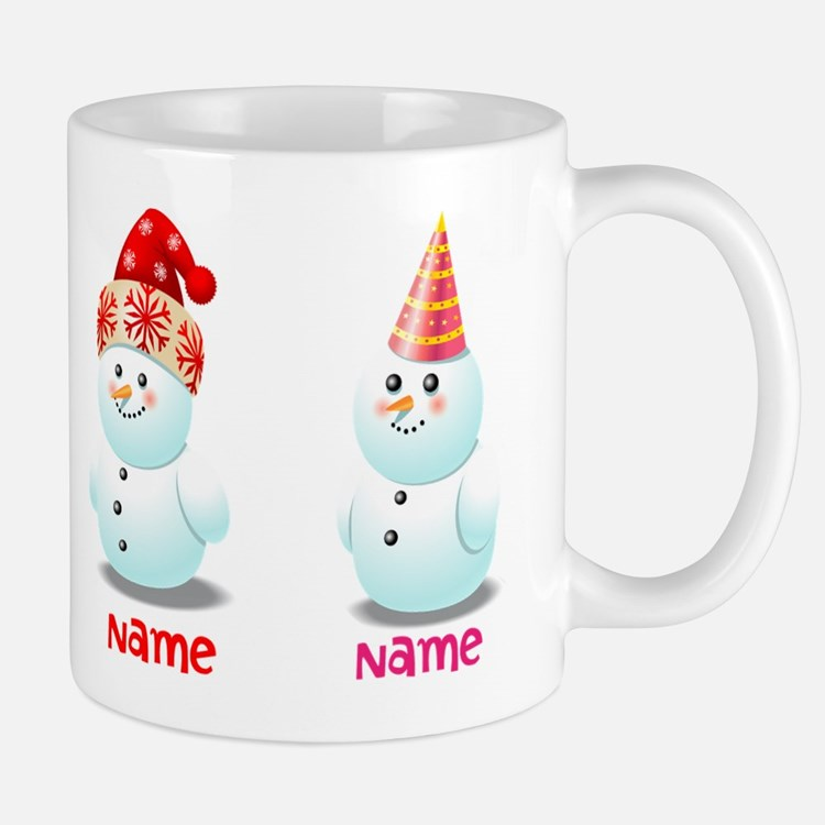 Funny Family Of Snowmen Mug