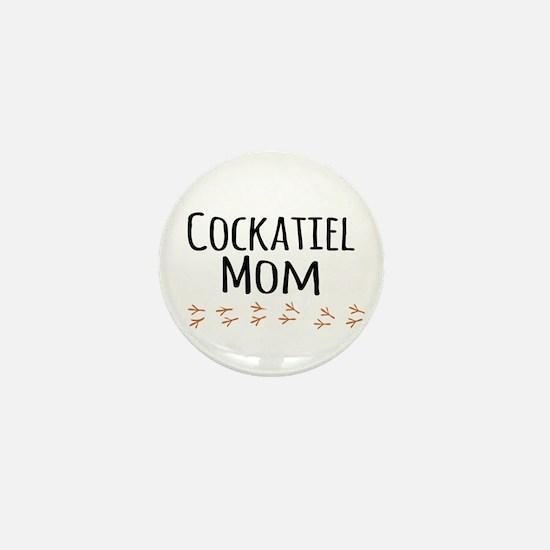 Cockatiel Mom Mini Button