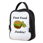 Fast Food Junkie Neoprene Lunch Bag