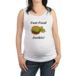 Fast Food Junkie Maternity Tank Top