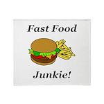 Fast Food Junkie Throw Blanket