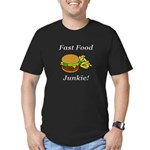 Fast Food Junkie Men's Fitted T-Shirt (dark)