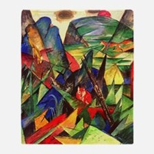 Foxes by Franz Marc Throw Blanket