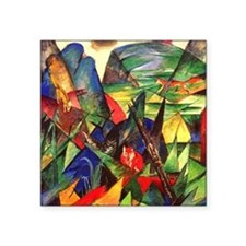 """Foxes by Franz Marc Square Sticker 3"""" x 3"""""""