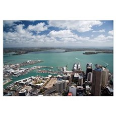 View of Waitemata Harbour from Skytower, Auckland Canvas Art