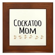 Cockatoo Mom Framed Tile