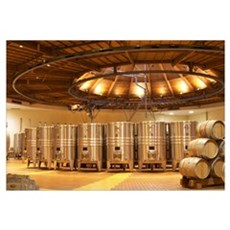 Winery built in a circular design and made from ch Framed Print