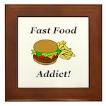 Fast Food Addict Framed Tile