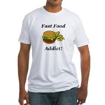Fast Food Addict Fitted T-Shirt