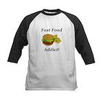 Fast Food Addict Kids Baseball Jersey