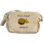 Fast Food Addict Messenger Bag