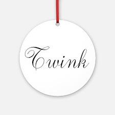 Twink Black Script Ornament (Round)