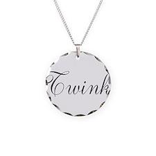 Twink Black Script Necklace