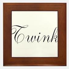 Twink Black Script Framed Tile