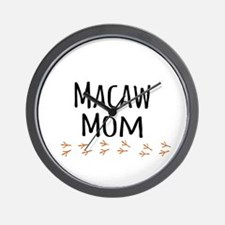 Macaw Mom Wall Clock
