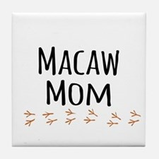 Macaw Mom Tile Coaster