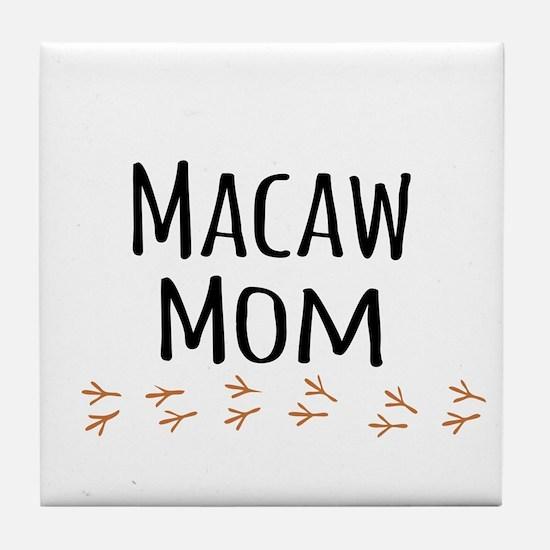 Macaw Mom Tile Coaster