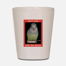 Dont mess with a Quaker Parrot Shot Glass