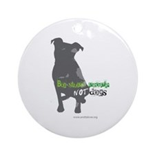 Funny Ban stupid people Ornament (Round)