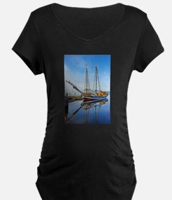 Tall Ship Larinda Maternity T-Shirt