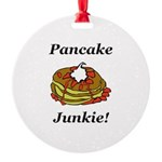 Pancake Junkie Round Ornament