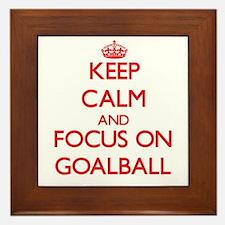 Keep calm and focus on Goalball Framed Tile