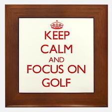 Keep calm and focus on Golf Framed Tile