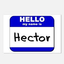 hello my name is hector  Postcards (Package of 8)