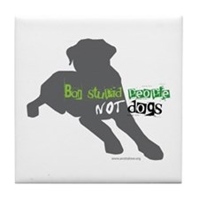 Unique American staffordshire terrier breed Tile Coaster