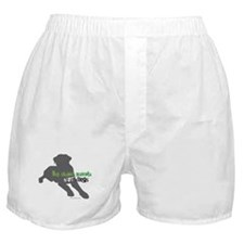 Cute Pit bull love Boxer Shorts