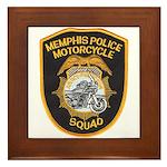 Memphis Motor Police Framed Tile