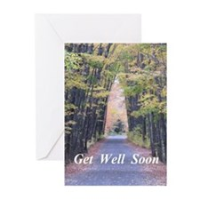 Cathedral in Road Greeting Cards