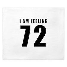 I am feeling 72 King Duvet
