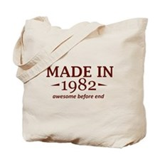 Made in 1982 Tote Bag