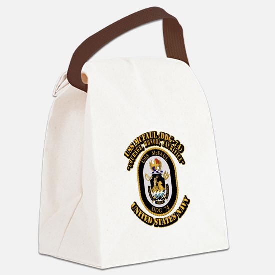 USS Grapple (ARS-53) with Text Canvas Lunch Bag