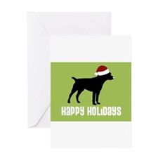 "Patterdale Terrier ""Santa Hat Greeting Cards (Pack"