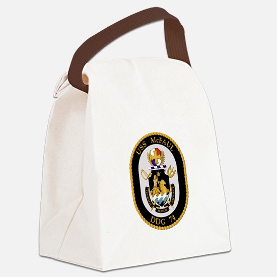 USS McFaul (DDG-74) Canvas Lunch Bag