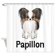 Papillon (word) Shower Curtain